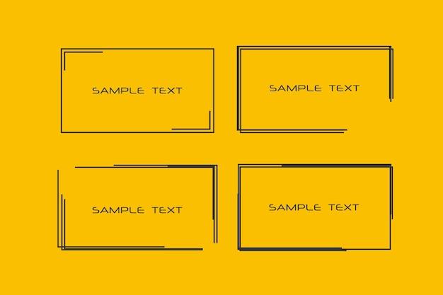 Molduras pretas retangulares para o seu texto planos de fundo para cartões de etiquetas de etiquetas