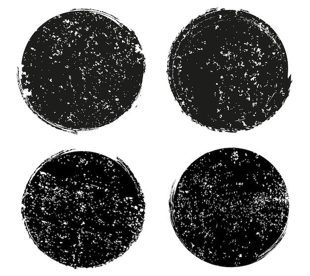 Molduras redondas com textura grunge