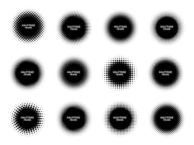 Molduras redondas de meio-tom.