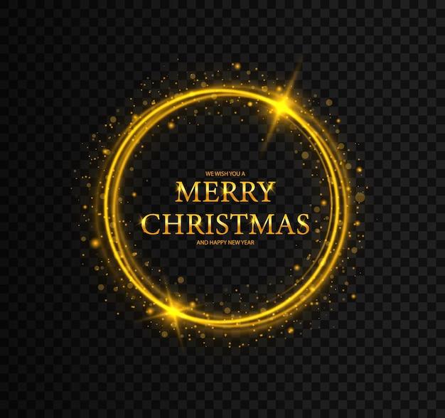 Molduras redondas de natal com estrelas molduras cartão de feliz natal