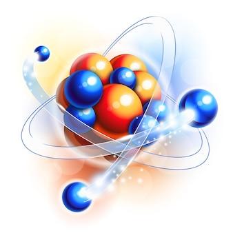 Molécula, átomos e partículas em movimento