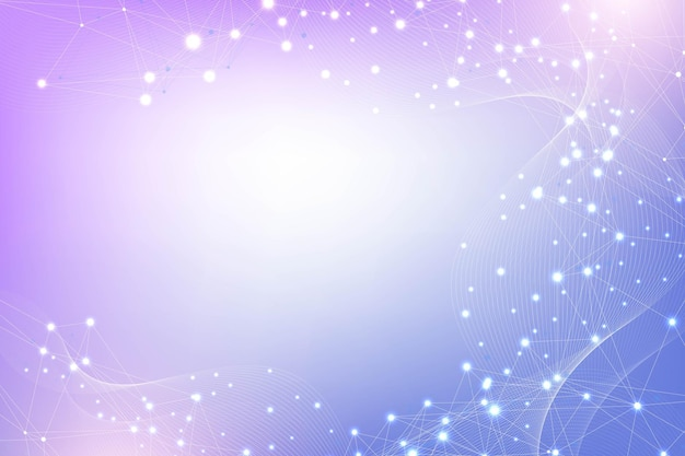 Molécula científica fundo dna ilustração de dupla hélice com profundidade de campo misteriosa ...
