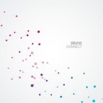 Molécula de ciência e estrutura de conexão. fundo abstrato
