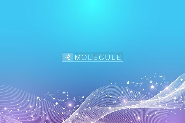 Molécula de fita de dna ou estrutura de átomo