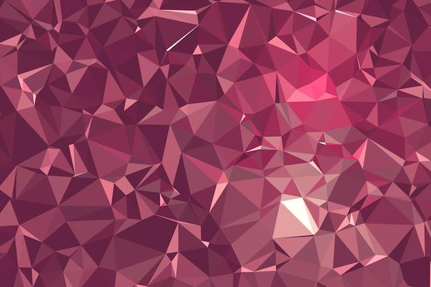 Molécula de fundo poligonal geométrico abstrato rosa e comunicação. conceito de ciência, química, biologia, medicina, tecnologia.