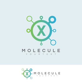 Molécula inicial letter x logo design