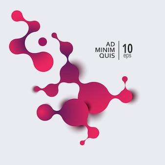 Moléculas abstratas e tecnologia de comunicação com círculos conectados com espaço para seu texto. ilustração vetorial.