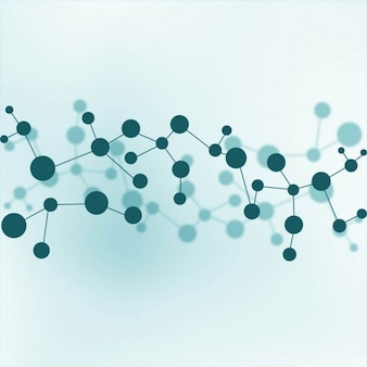 Moléculas de azul de fundo