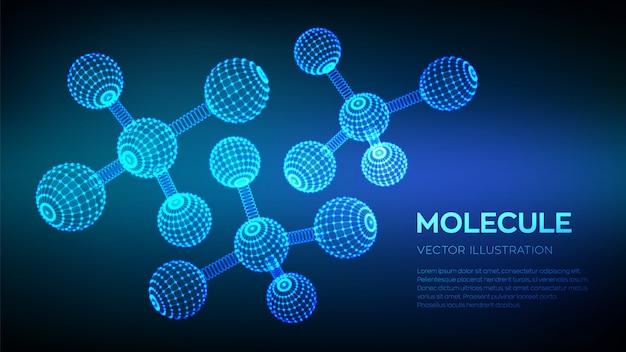 Moléculas e fórmulas químicas.