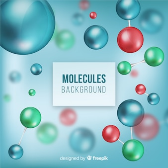 Moléculas fundo desfocado