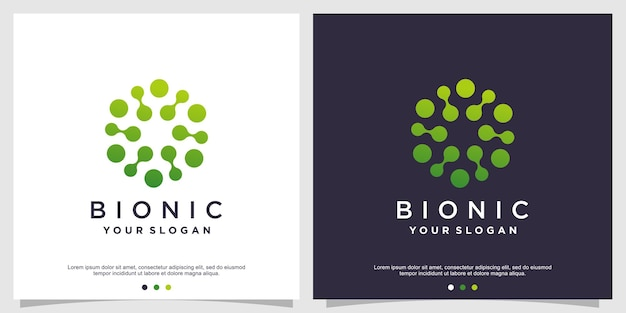 Molecule logo design vector premium