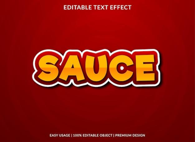 Molho de efeito de texto editável estilo premium