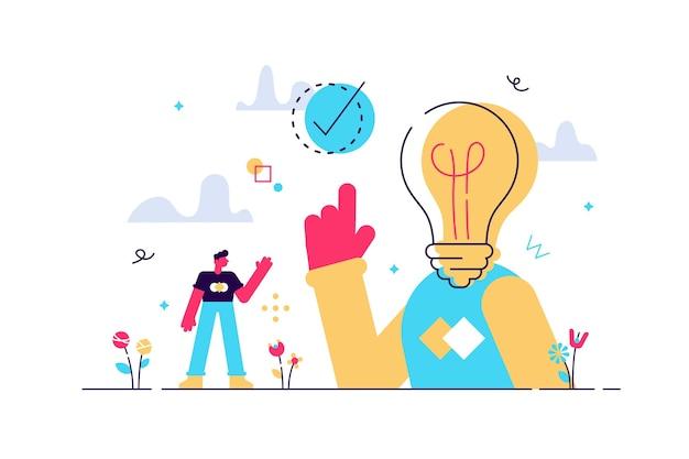 Momento eureka ou aha como solução de ideia e descoberta
