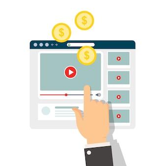 Monetização de conteúdo de vídeo - ganhando dinheiro com vlog