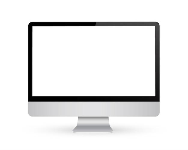 Monitor com tela em branco.