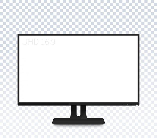 Monitor de computador com ampla tela em branco