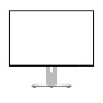 Monitor de computador. display lcd de tela larga. vetor.