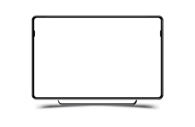 Monitor de computador preto realista de mock-up