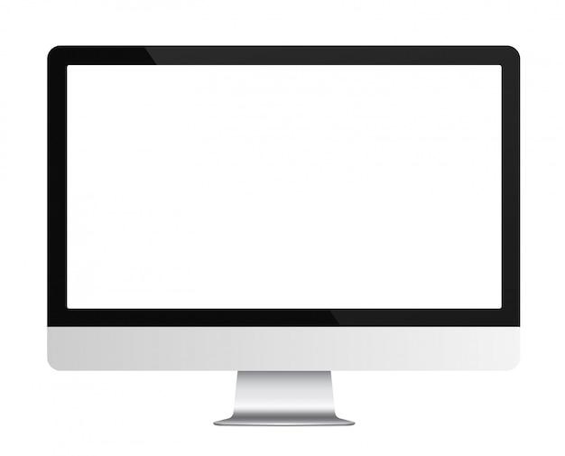 Monitor de computador realista