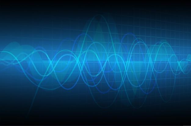 Monitor de pulso de coração azul com sinal.
