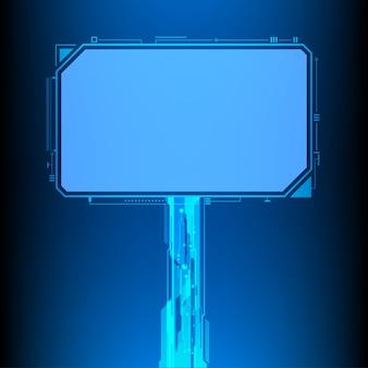 Monitor de tecnologia digital ilustração vetorial