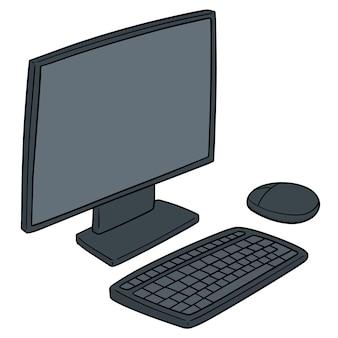 Monitor, teclado e mouse