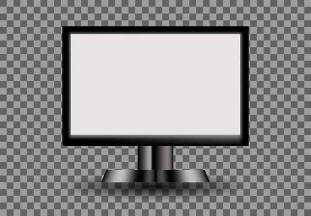Monitorar branco em branco vazio, ilustração de tela digital
