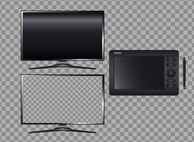 Monitores de computadores e tablets gráficos