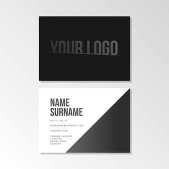 Monochrome business cards cartões de visita monocromáticos