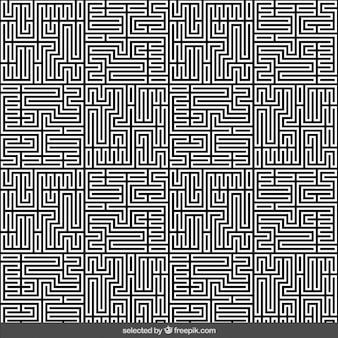 Monochrome labirinto fundo abstrato