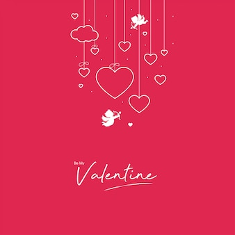 Monochrome valentine design
