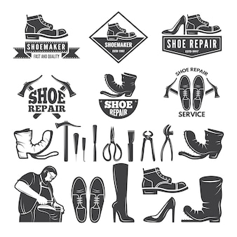 Monocromático de várias ferramentas para reparo de sapato