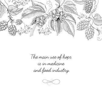 Monocromático desenho decorativo original cartão postal desenhado à mão