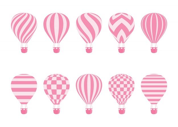 Monocromático isolado de balão de ar quente