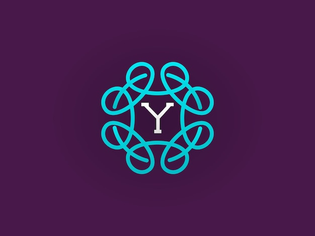 Monograma compacto ou modelo de design de ícone com ilustração vetorial de letras e qualidade elegante e premium
