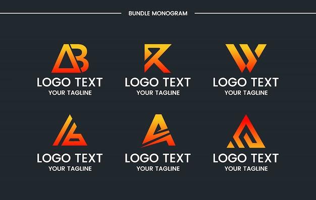 Monograma conjunto logotipo design