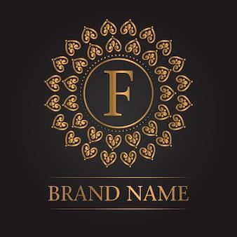 Monograma de ouro modelo de luxo