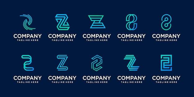 Monograma do logotipo da letra z do estilo do minimalismo da coleção.