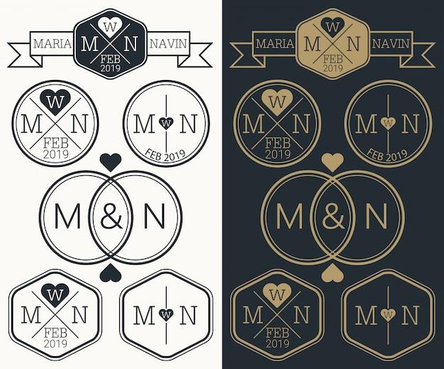 Monograma do logotipo do casamento
