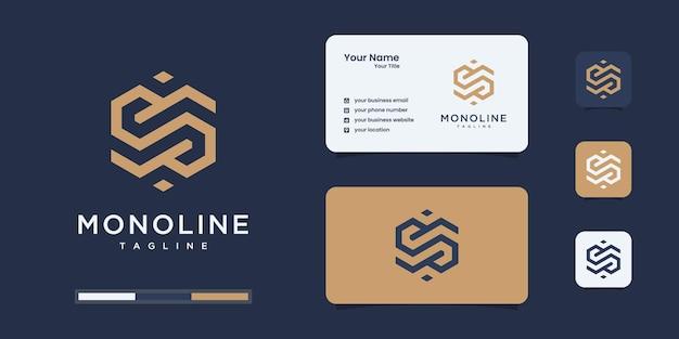 Monograma moderno, letra, inicial, modelos de design de logotipo do alfabeto