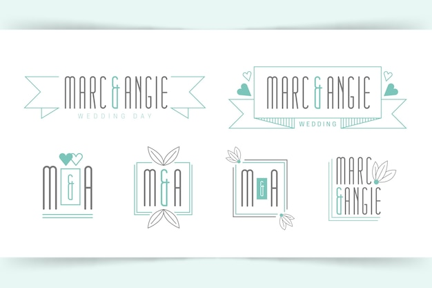 Monogramas chiques do casamento