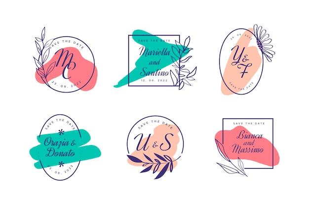 Monogramas criativos de casamento
