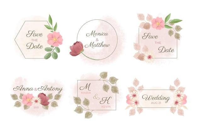 Monogramas de casamento pintados à mão