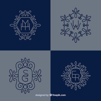 Monogramas decorativos bonitos