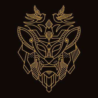 Monoline de leão de ouro