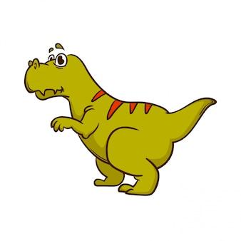 Monstro bonito dos desenhos animados de dinossauro