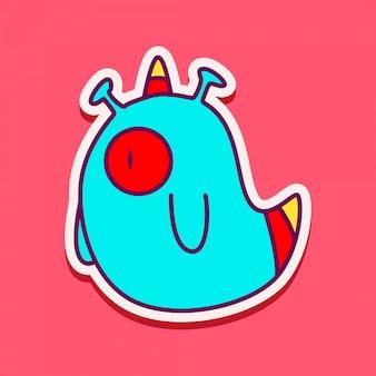 Monstro bonito personagem doodle design