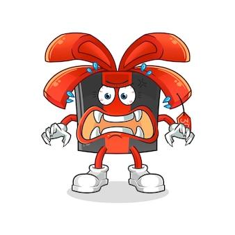 Monstro da sexta-feira negra. personagem de desenho animado