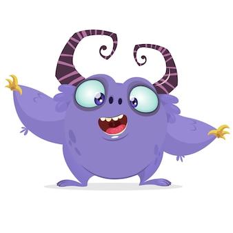 Monstro de desenho animado. dia das bruxas