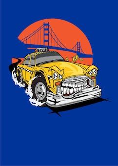 Monstro de taxi car